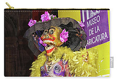 Carry-all Pouch featuring the photograph Catrina - Museo De La Caricatura, Mexico City by Tatiana Travelways