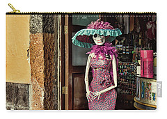 Carry-all Pouch featuring the photograph Catrina Welcomes You by Tatiana Travelways