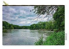 Carry-all Pouch featuring the photograph Cedar Bend Iowa by Dan Miller