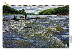 Carry-all Pouch featuring the photograph Cedar River Iowa by Dan Miller