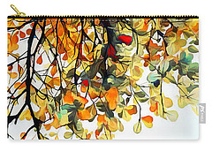 Carry-all Pouch featuring the digital art Change Of Season by Pennie McCracken