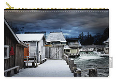 Charming Fishtown Michigan Carry-all Pouch