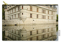 Carry-all Pouch featuring the photograph Chateau Azay-le-rideau, by Stephen Taylor