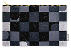 Checkers And Pick-up-sticks Carry-all Pouch