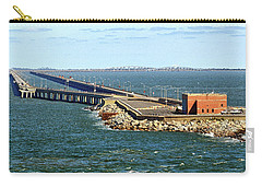 Carry-all Pouch featuring the photograph Chesapeake Bay Bridge Tunnel E S V A by Bill Swartwout Fine Art Photography