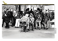 Carry-all Pouch featuring the digital art Chess Match Union Square  by Geraldine Gracia