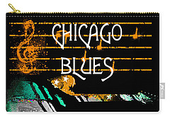 Chicago Blues Music Carry-all Pouch