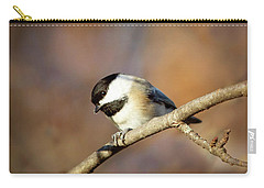 Carry-all Pouch featuring the photograph Chickadee by Sue Collura