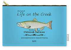 Chinook Salmon Disrupted Carry-all Pouch