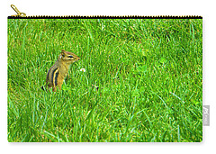 Chipmunk And The Flower Carry-all Pouch