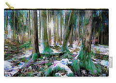 Carry-all Pouch featuring the digital art Chorus Of Trees by Edmund Nagele