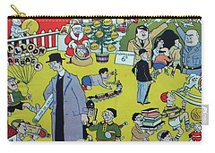 Carry-all Pouch featuring the painting Christmas 1938 Dublin Opinion by Misc