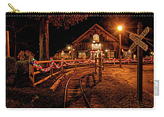 Carry-all Pouch featuring the photograph Christmas At The Barn In Smithville by Kristia Adams