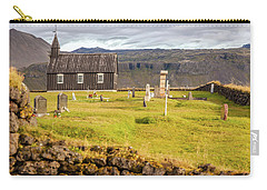 Church Cemetery Of Iceland Carry-all Pouch