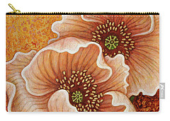 Carry-all Pouch featuring the painting Citrine Glow by Amy E Fraser