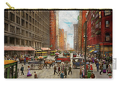 Carry-all Pouch featuring the photograph City - Chicago Il - Marshall Fields Company 1911 by Mike Savad