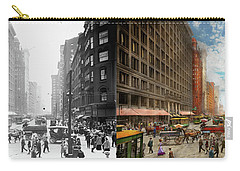 Carry-all Pouch featuring the photograph City - Chicago Il - Marshall Fields Company 1911 - Side By Side by Mike Savad