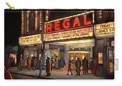 Carry-all Pouch featuring the photograph City - Chicago Il - Nightlife At The Regal Theater 1941 by Mike Savad