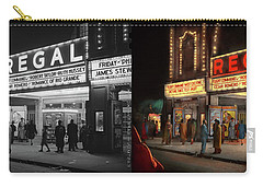Carry-all Pouch featuring the photograph City - Chicago Il - Nightlife At The Regal Theater 1941 - Side By Side by Mike Savad
