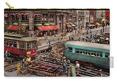 Carry-all Pouch featuring the photograph City - Dc - Road Closed For Repairs 1941 by Mike Savad