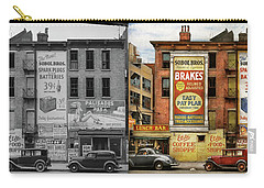 Carry-all Pouch featuring the photograph City - New York Ny - Elite Lunch Bar 1938 - Side By Side by Mike Savad