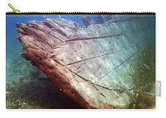Carry-all Pouch featuring the photograph City Of Grand Rapids Shipwreck Ontario Canada 8081801c by Rick Veldman