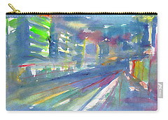 Carry-all Pouch featuring the painting Cityscape 2 by Dobrotsvet Art