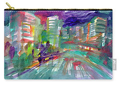 Carry-all Pouch featuring the painting Cityscape 3 by Dobrotsvet Art