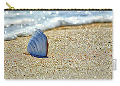 Carry-all Pouch featuring the photograph Clamshell On The Beach At Assateague Island by Bill Swartwout Fine Art Photography