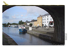 Carry-all Pouch featuring the painting Cloondara,a Shannon By Way. by Val Byrne