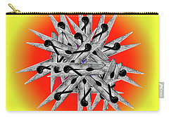 Clothespin Pop Art Warhol Style Print - #1 Carry-all Pouch