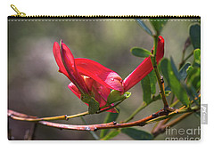 Carry-all Pouch featuring the photograph Cockies Tongue Templetonia Retusa by Elaine Teague