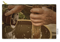 Carry-all Pouch featuring the photograph Coleslaw Maker by Guy Whiteley