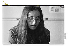 College Student With Octagonal Eyeglasses, 1972 Carry-all Pouch