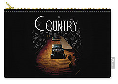 Color Country Music Guitar Notes Carry-all Pouch