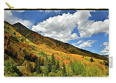 Color In The Spotlight At Red Mountain Pass Carry-all Pouch