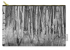 Carry-all Pouch featuring the photograph Colorado Autumn Wonder Panorama In Black And White  by OLena Art Brand