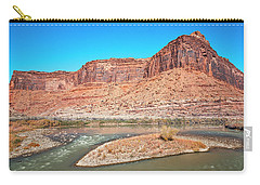 Carry-all Pouch featuring the photograph Colorado River At Salt Wash by Andy Crawford