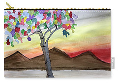 Colored Tree Carry-all Pouch