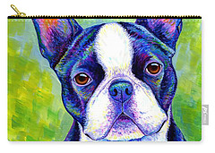 Colorful Boston Terrier Dog Carry-all Pouch