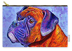 Colorful Brindle Boxer Dog Carry-all Pouch