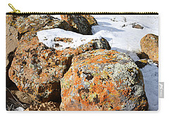 Colorful Lichen Covered Boulders In Book Cliffs Carry-all Pouch
