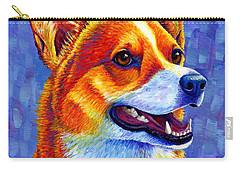 Colorful Pembroke Welsh Corgi Dog Carry-all Pouch