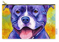 Colorful Pitbull Terrier Dog Carry-all Pouch