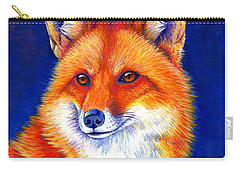 Colorful Red Fox Carry-all Pouch