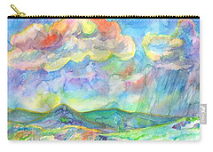 Carry-all Pouch featuring the painting Colorful Summer Landscape by Dobrotsvet Art