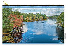 Carry-all Pouch featuring the photograph Colors Of Cady Pond by Michael Hughes