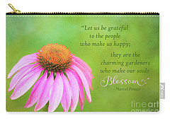 Coneflower Gratitude Art Carry-all Pouch