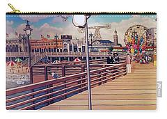 Coney Island Boardwalk Pillow Mural #1 Carry-all Pouch
