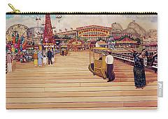 Coney Island Boardwalk Pillow Mural #2 Carry-all Pouch